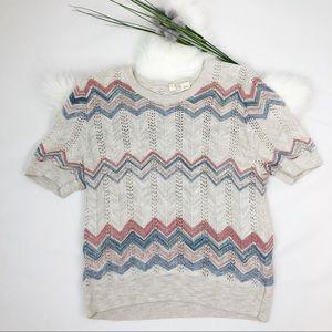 [Anthropolgie] MOTH Short Sleeve Knit Sweater
